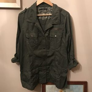 Maurices Plus 2X Military Jacket